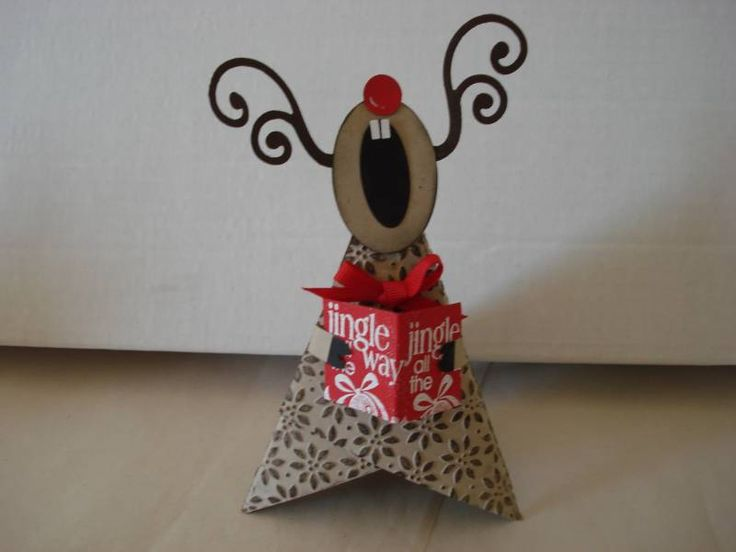 Not sure who came up with the original idea, but I got mine from  Janis Sinko, my up line. We made them at a fabulous Christmas Workshop, aren't they the cutest ever! Directions on sample with all 3 characters featured...............