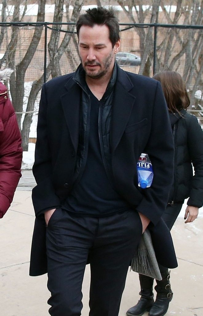 Celebrities spotted out and about at the 2015 Sundance Film Festival in Park City, Utah on January 24, 2015.<br /> <br /> Pictured: Keanu Reeves
