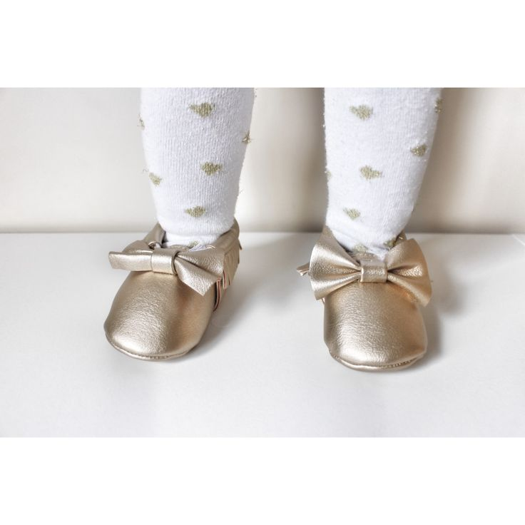 Gold bow Moccasins baby infant shoes💛 $19.99