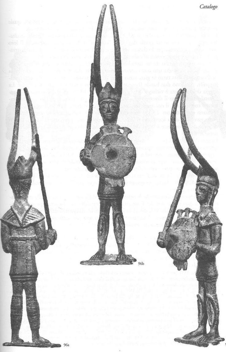 Guerrieri nuragici. Da Senorbi, museo di Cagliari.