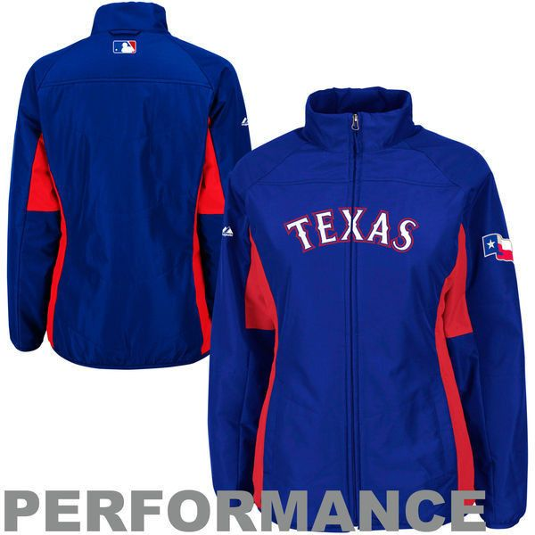 Women's Majestic Royal Texas Rangers Authentic Collection Double... ($110)  ❤ liked