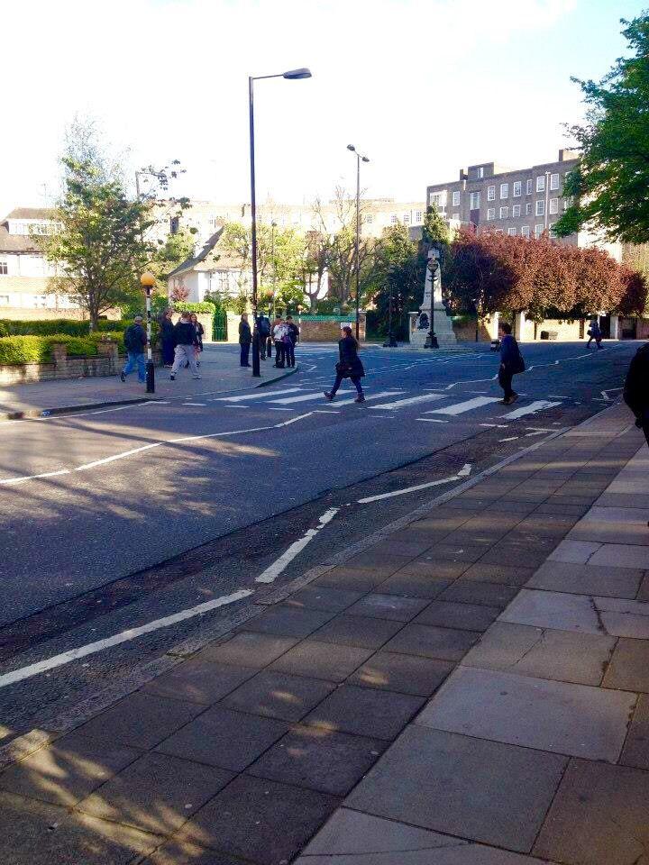Zebra crossing at Abbey Road, London