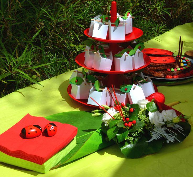fête coccinelle - ladybird party - ladybug - table
