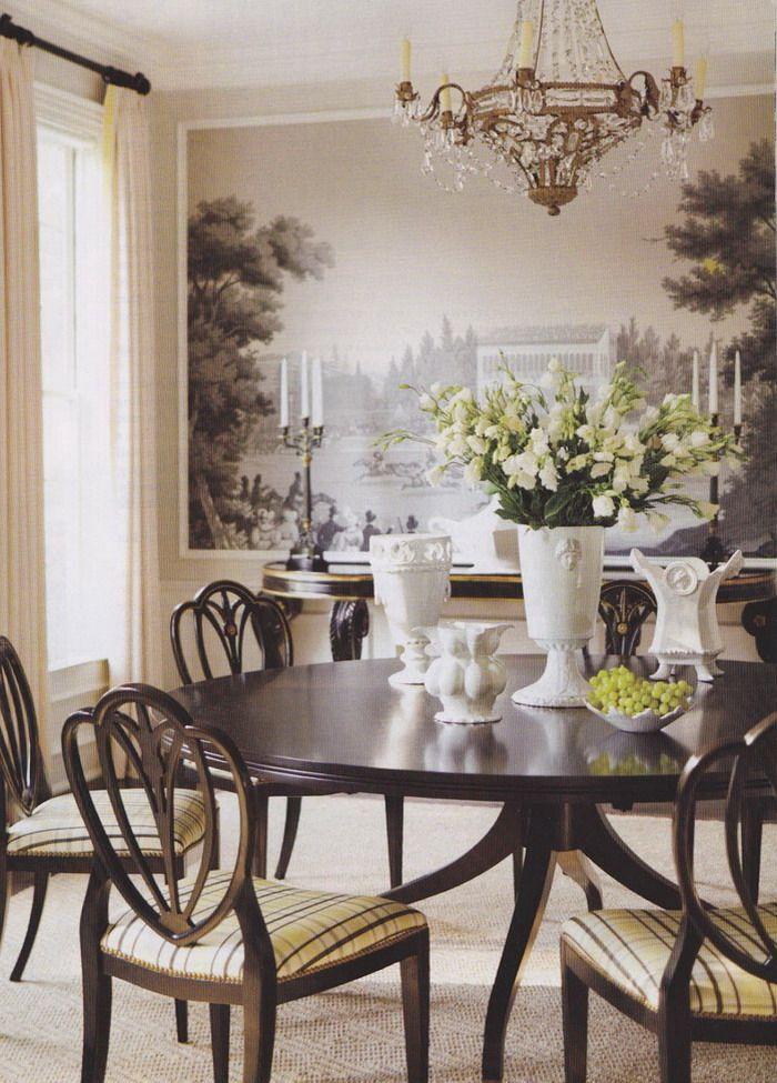 25 erstaunliche Wallpaper für Ihr schönes Esszimmer