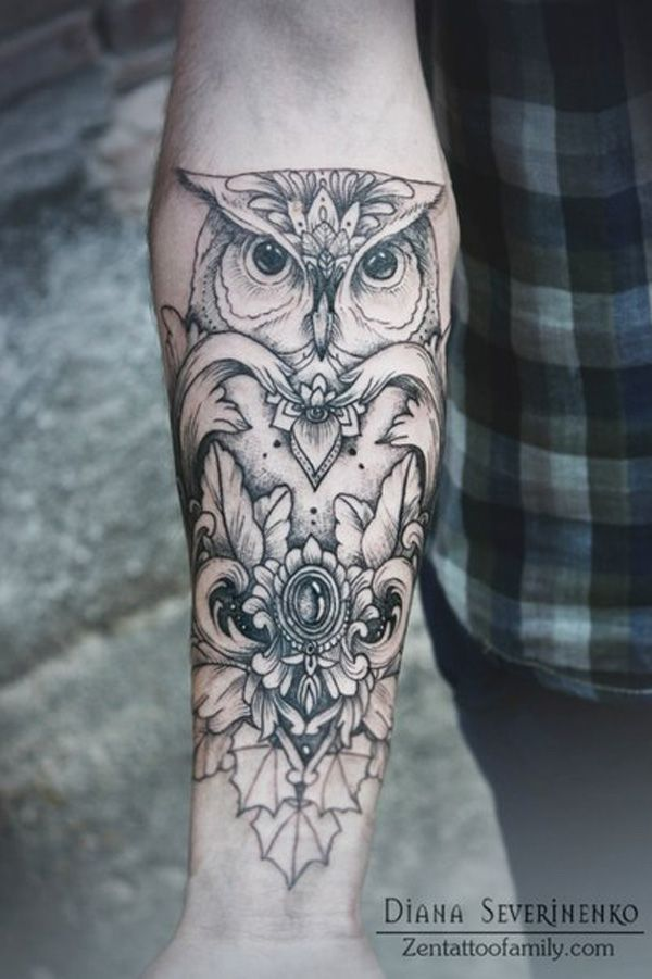 love this owl tattoo - 55+ Awesome Forearm Tattoos | Cuded