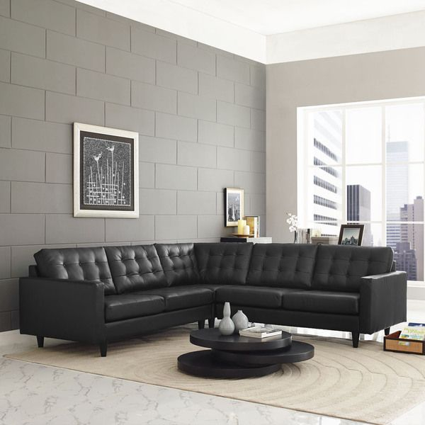 Empress 3-Piece Leather Sectional Sofa Set