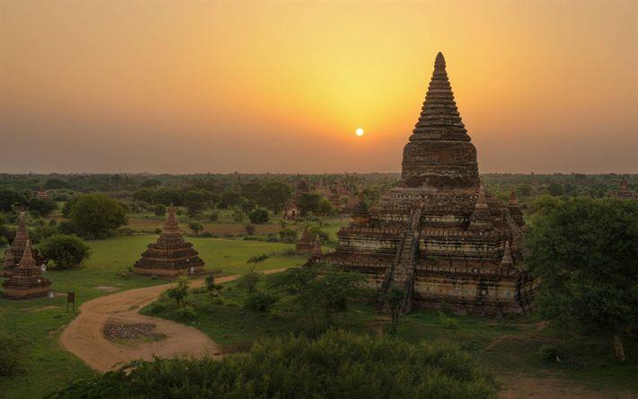 Descargar fondos de pantalla Templo Sulamani, Minnanthu, Paganos, los templos, el templo Budista, Myanmar, Asia