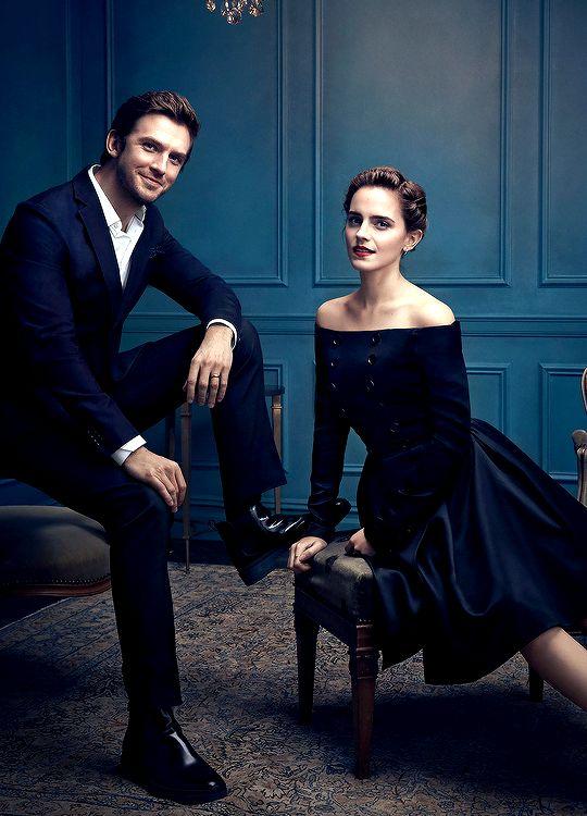 Emma Watson, Dan Stevens and Luke Evans photographed by Art Streiber. Pinned by @lilyriverside