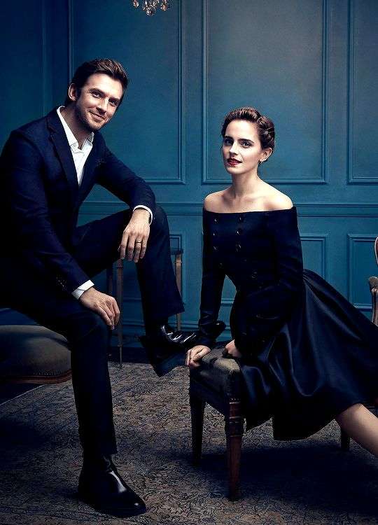 Emma Watson, Dan Stevens and Luke Evans photographed by Art Streiber. Pinned by @lilyriverside