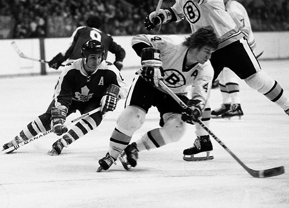 Bobby Orr, Ron Ellis...Bruins v Leafs 1973...just what a kid dreamed of