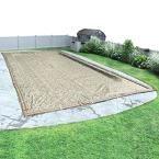 Desert Camo 16 ft. x 36 ft. Pool Size Rectangular Desert Camo Solid Winter In Ground Pool Cover