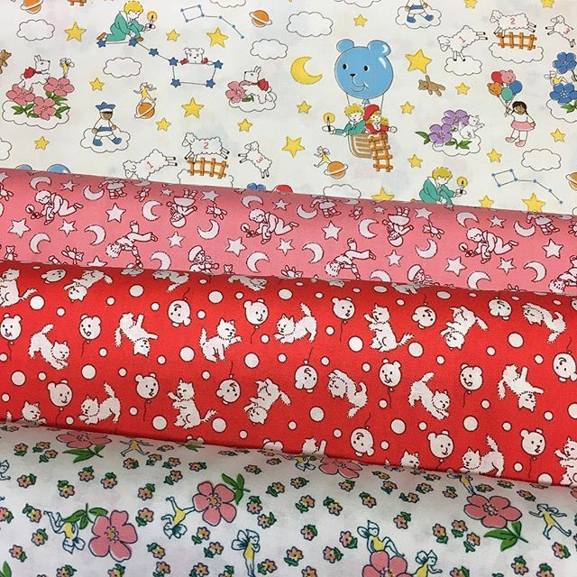 Adorable new 1930s style reproduction fabrics fresh out of the box! #luccellomelbourne #1930sreproductionfabrics #quilting #scrappyquilt #socute