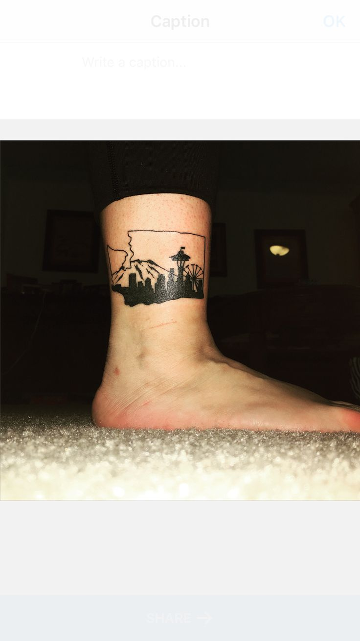 Washington state skyline tattoo