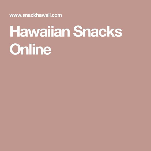 Hawaiian Snacks Online