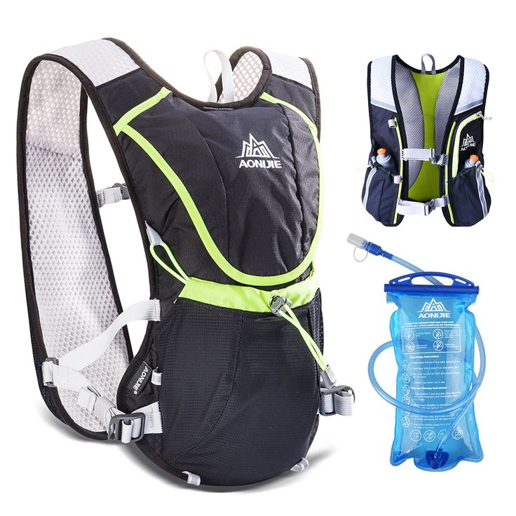 Triwonder Professional 8L Outdoors Mochilas Trail Marathoner Running Race Hydration Vest Hydration Pack Backpack (Black - with 1.5L Water Bladder). WATER SUPPLEMENT -- BPA free and FDA approved Hydration Bladder / Water Bottles Equipped, pressure-tolerant and leak proof. Great running backpack outfit for carefree biking, running, hiking, climbing and other outdoor adventures. BREATHABLE + ADJUSTABLE -- Soft and thin mesh padding of hydration vest for optimal comfort and absorb sweat...