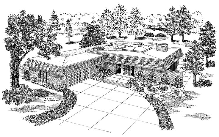 Eplans contemporary modern house plan one of a kind for One of a kind house plans