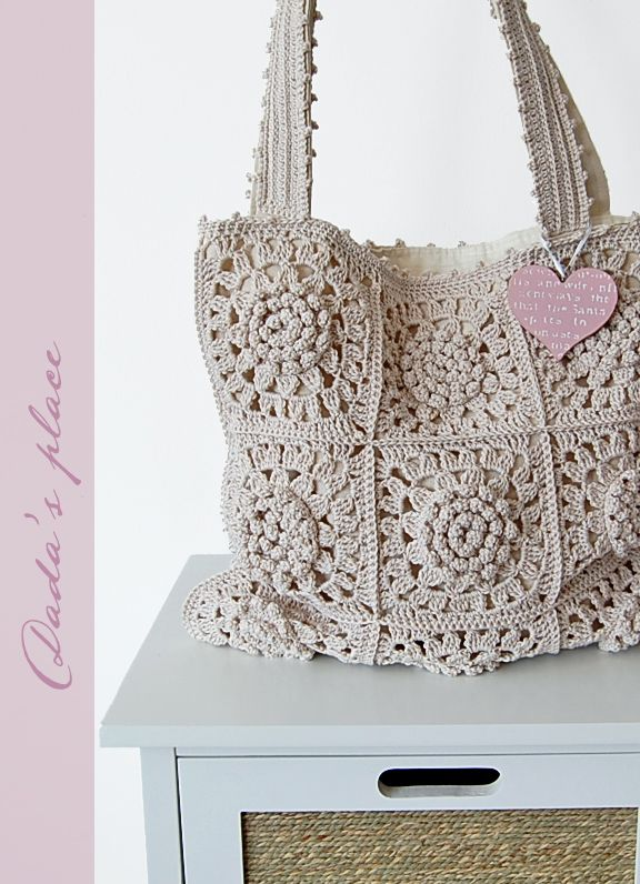 Dada's place: Crochet tote bag