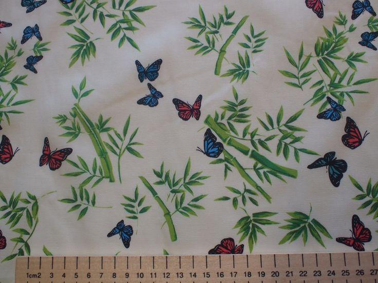 Stoffe gemustert - Baumwolle Stoffe mit Schmetterlinge - ein Designerstück von Libertyme bei DaWanda
