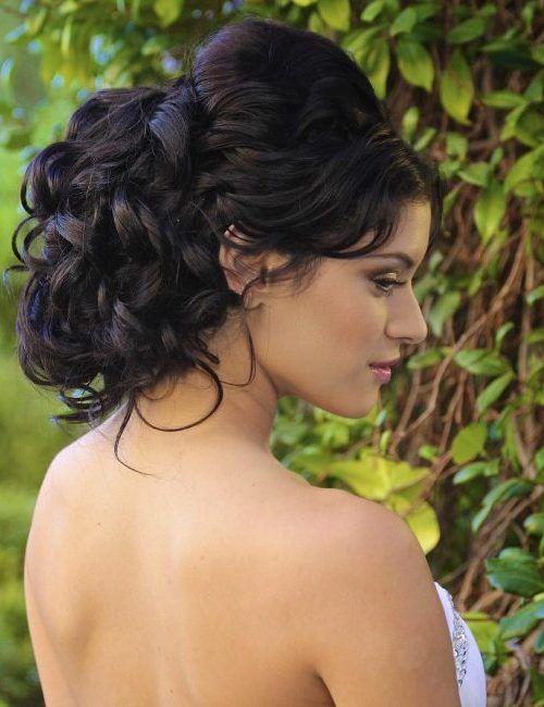 Peinados de novia pelo negro