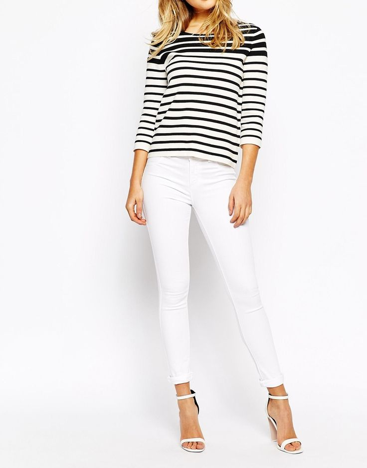 Oasis White Cropped Jade Jeans $68