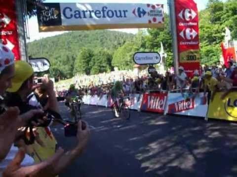 Peter Sagan wheeling la Planche des belles filles !