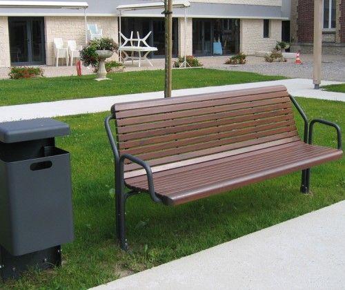 guyon mobilier urbain banc senior bois contour 320S 2 places