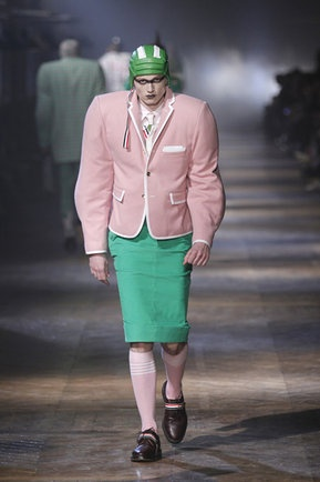 Halloween costumes on the catwalk. This one is called Stoned Zombie Grannie