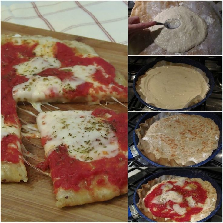 Pizza con impasto alle patate in padella
