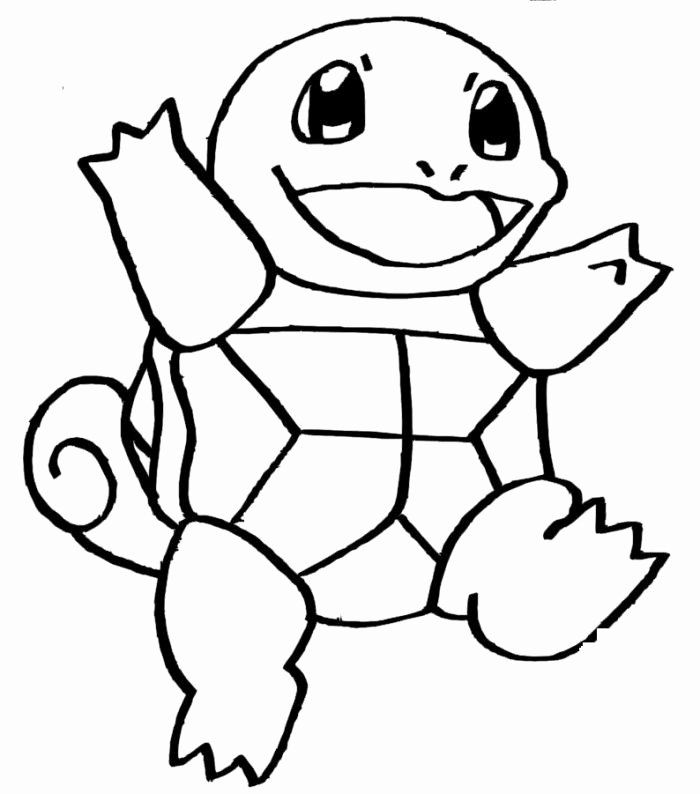 Squirtle Pokemon Coloring Page Awesome Squirtle Pokemon Coloring