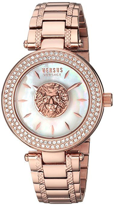 8c6dab9ea983 Versus by Versace Women s  BRICK LANE  Quartz Stainless Steel and Gold  Plated Casual Watch(Model  S64100016)