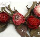 """Die Herbstzeit-Rose, eine märchenhafte Rosenkette, in der Länge variabel. Ob eng am Hals anliegen oder als Y-Kette länger getragen, diese Rose ist ein """"Highlight"""".  Die Rosenkelche sind ganz..."""