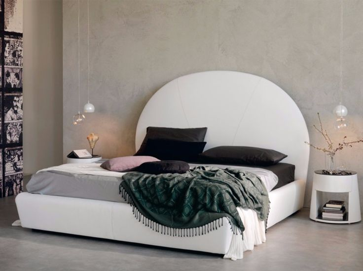 Leather double bed with upholstered headboard BJORN by Cattelan Italia design Studio 28