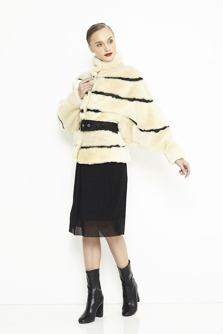 Mouton lamb coat
