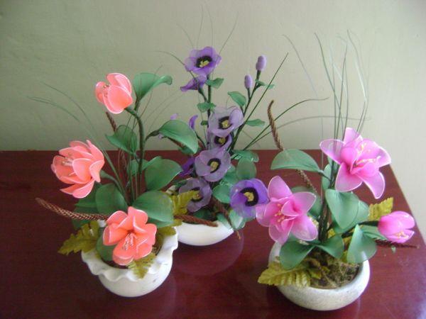 artesanato em meia de seda | Flores de Meia