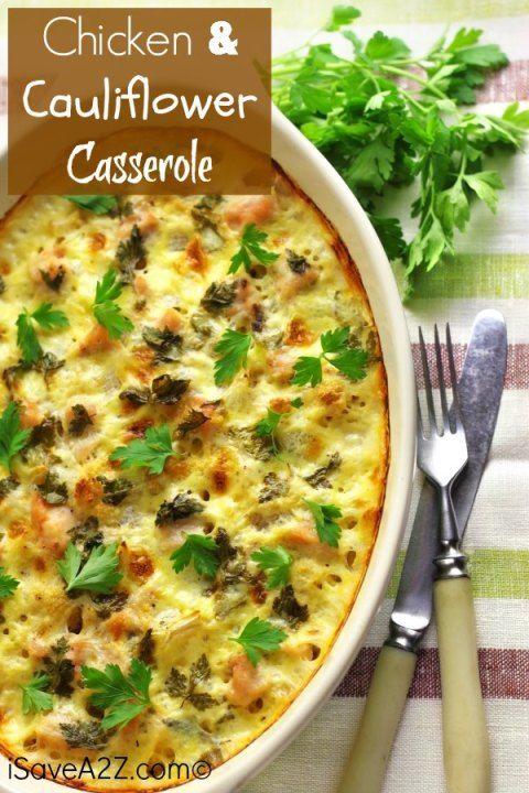 Chicken and cauliflower casserole