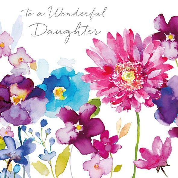 wild flowers daughter birthday card  daughter birthday