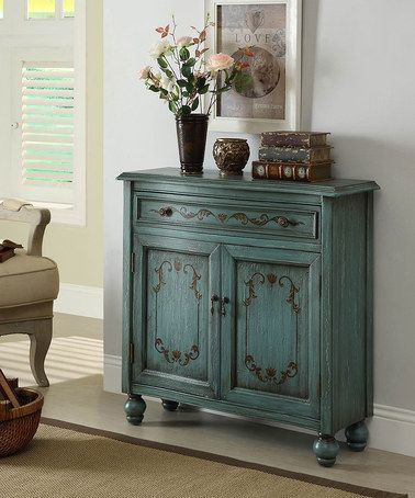 Look what I found on #zulily! Teal Accent Chest #zulilyfinds