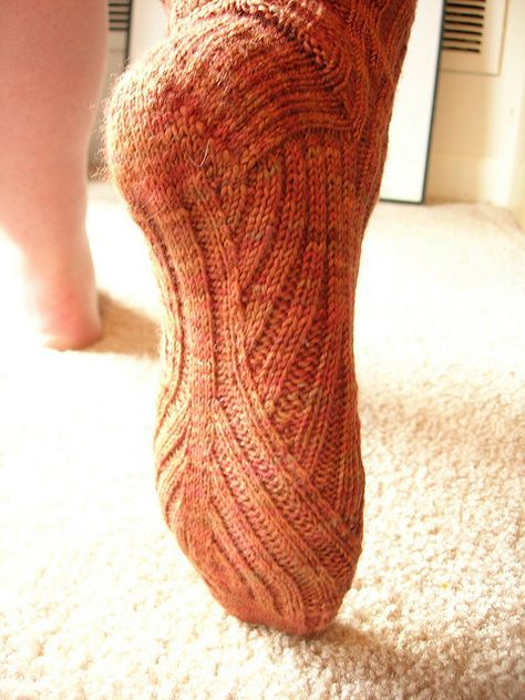 Tree Bark Sock 3 by eilatan, via Flickr