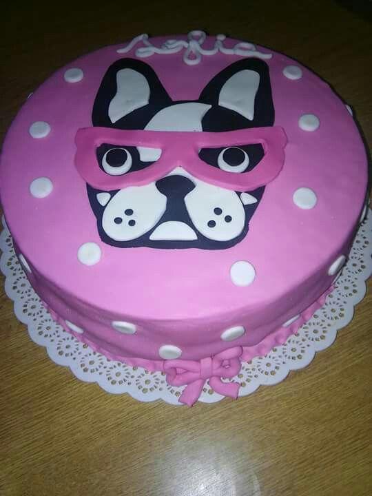 Torta de bulldog frances