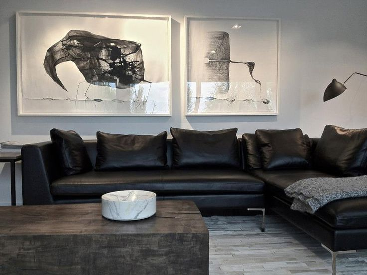 How To Visually Lighten Up Dark Leather Furniture: 25+ Best Ideas About Black Leather Sofas On Pinterest