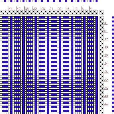 Hand Weaving Draft: Figure 101, A Manual of Weave Construction, Ivo Kastanek, 2S, 2T - Handweaving.net Hand Weaving and Draft Archive