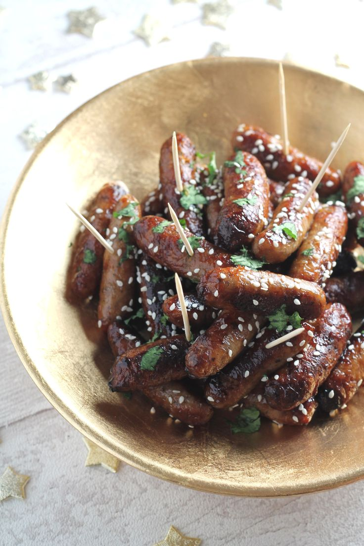 sweet and sticky cocktail sausages