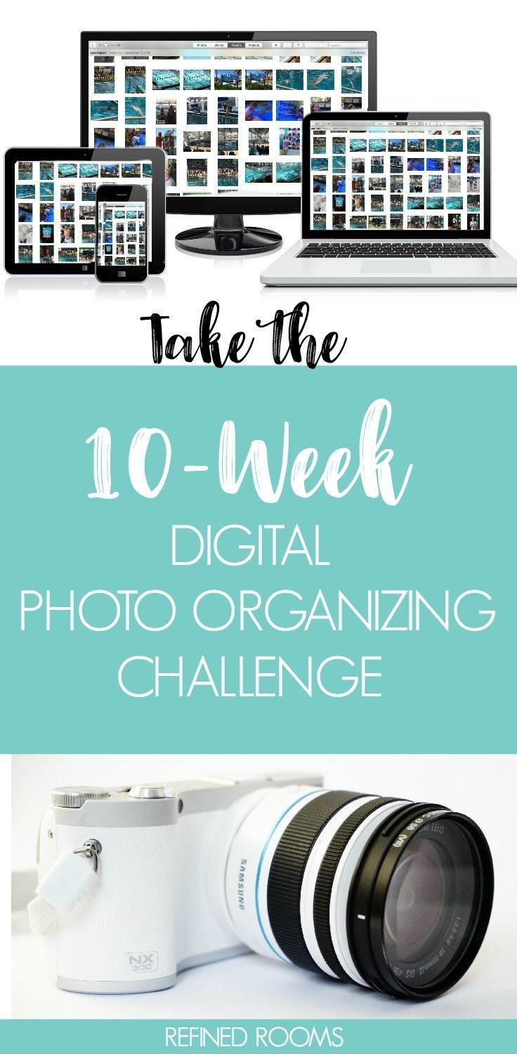 Ready to tame the digital photo chaos? Take the 10-week Digital Photo Organizing Challenge at Refined Rooms   #photoorganizing #organizingchallenge