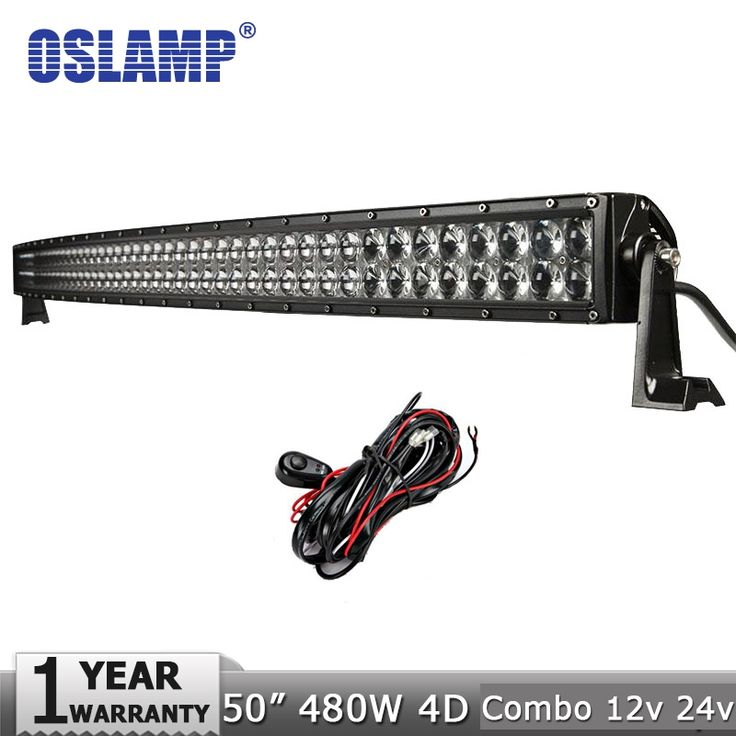 "229.50$  Buy now - http://alixq9.worldwells.pw/go.php?t=32515258221 - ""Oslamp 50"""" 480W Led Light Bar CREE Chips Curved Offroad LED Work Light Bar Combo Beam for 12V 24V SUV ATV UTV 4WD 4X4 Pickup"""