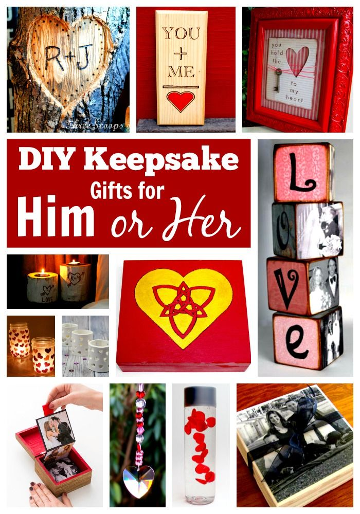 These unique handmade DIY keepsake gifts for him or her are perfect for Christmas, Valentine's day, birthday's, weddings, and anniversary's! You will be able to find something easy to make for your boyfriend, girlfriend, husband or wife in this collection of homemade gift ideas that both men and women will LOVE!