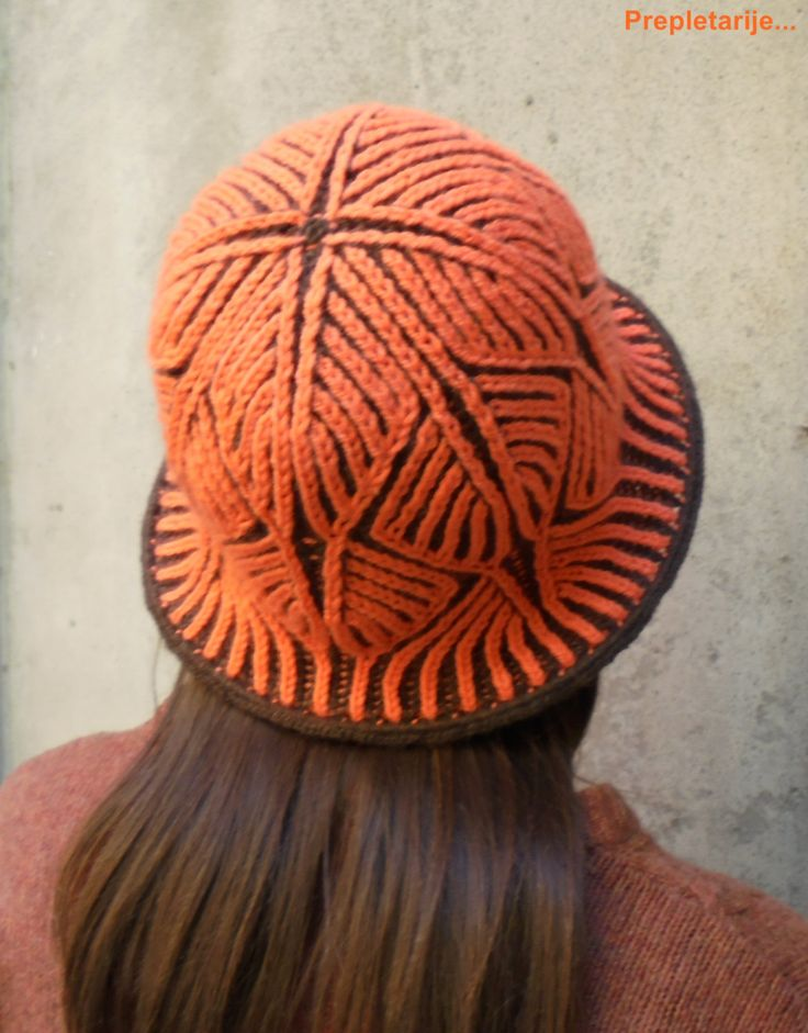 PDF Pattern  2-color Brioche knitted winter/summer hat OBSESSION/photo/video tutorials for important methods/steps/stitches used in creation by KnittedAir on Etsy