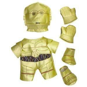 C3PO Costume for teddy bears from the Build-A-Bear Workshop #BAB #BuildABear