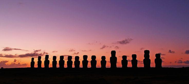 isla de pascua, rapa nui, esculturas, cielo, nubes, 1607241441