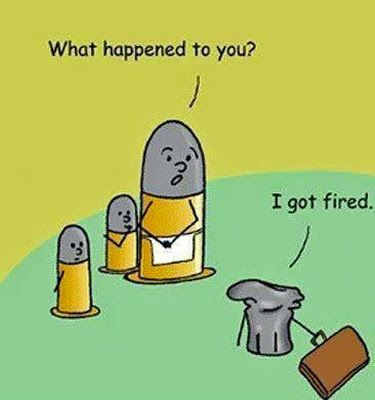 Funny Shotgun Shell Cartoon Fired Pun Picture<---- repinning for this comment, because they are NOT shotgun shells.  Nice try though.