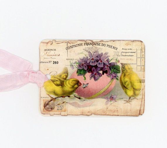 86 best easter garden home club images on pinterest easter easter gift tags vintage easter tags easter by bluebirdlane negle Image collections